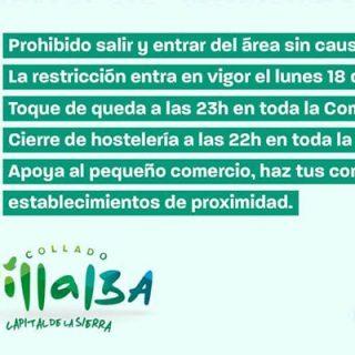 Restricción de movilidad en la zona básica de salud Sierra de Guadarrama de Collado Villalba